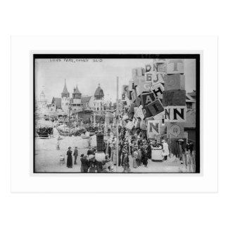 Vintage Coney-Insel, Luna Park Postkarte