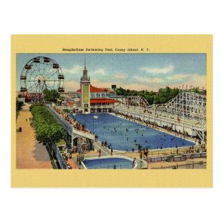 Vintage Coney-Insel-New- Yorkpostkarte Postkarte