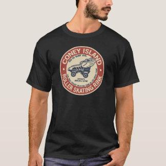 Vintage Coney-Insel-Rolle, die Eisbahn anbindet T-Shirt