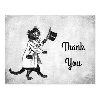 Vintage coole Katzen-Gewohnheit danken Ihnen Postkarte