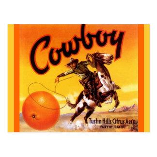 Vintage Cowboy-Marke Tustin Postkarte