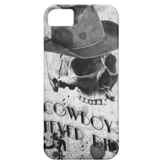 Vintage Cowboy skull design phone case Hülle Fürs iPhone 5