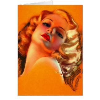 Vintage Dame, Geburtstag Karte