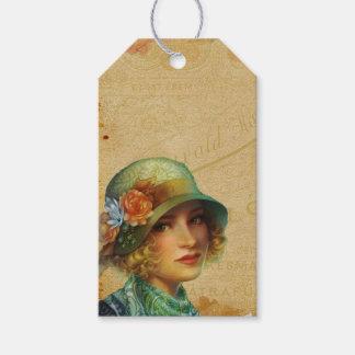 Vintage Dame Geschenkanhänger