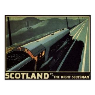 Vintage Dampf-Lokomotivpostkarte Postkarte