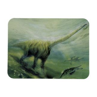 Vintage Dinosaurier, Brachiosaurus-Schwimmen im Magnet
