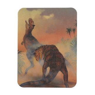 Vintage Dinosaurier, Carnotaurus, der im Dschungel Magnet