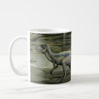 Vintage Dinosaurier, ein kreidiges Hypsilophodon Kaffeetasse
