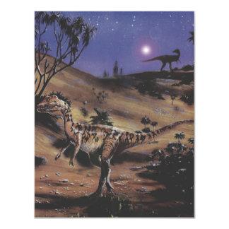 Vintage Dinosaurier, Karte