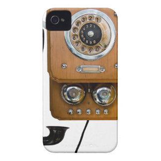 Vintage Drehskala-Landlinie Telefon iPhone 4 Etuis