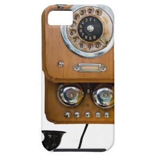 Vintage Drehskala-Landlinie Telefon iPhone 5 Etui