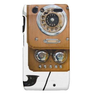 Vintage Drehskala-Landlinie Telefon Motorola Droid RAZR Case