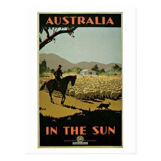 Vintage Dreißigerjahre Australien-Reiseanzeige Postkarte