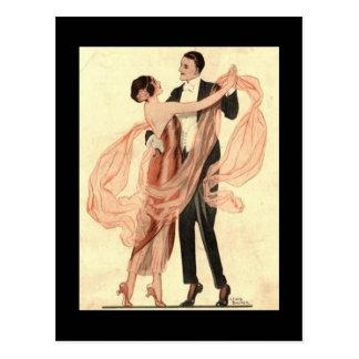 Vintage Edwardian Tanzen-Paar-Postkarte Postkarte