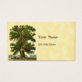 Vintage Eichen-Baum-kundenspezifische Visitenkarte