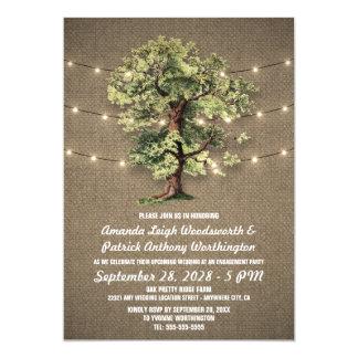 Vintage Eichen-Baum-Verlobungs-Party Einladungen