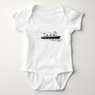 Vintage einfache Schiffs-Illustration Baby Strampler