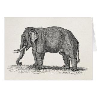 Vintage Elefant 1800s afrikanische Karte