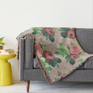 Vintage elegante Blumen Blumenthrowdecke Decke