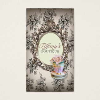 Vintage elegante englische Blumenteacupsmode Visitenkarte
