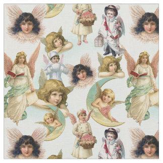 Vintage Engel in der Wolken-Collage Stoff