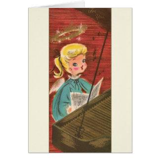 Vintage Engels-Pianist-Weihnachtsgruß-Karte Grußkarte