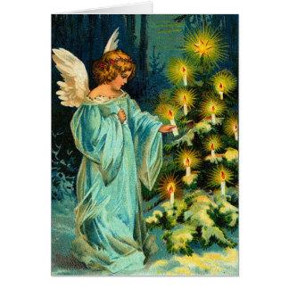 Vintage Engels-Weihnachtskarte Karte