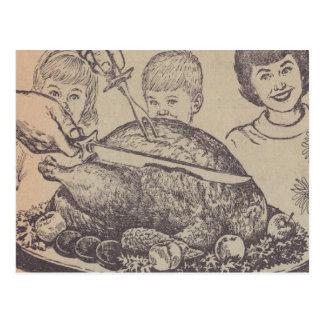 Vintage Erntedank-Postkarte Postkarte