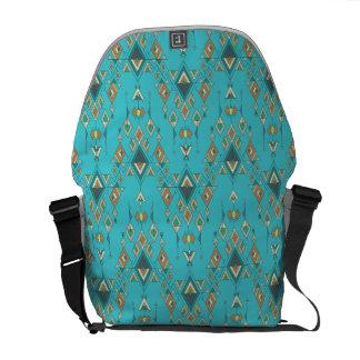Vintage ethnische Stammes- aztekische Verzierung Kurier Tasche