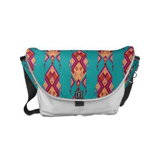 Vintage ethnische Stammes- aztekische Verzierung Kuriertasche