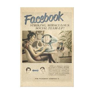 Vintage Facebook Leinwand Galerie Gefaltete Leinwand