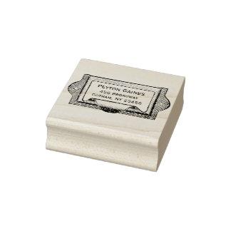 Vintage Fach-Zug-Adressen-Briefmarke Gummistempel