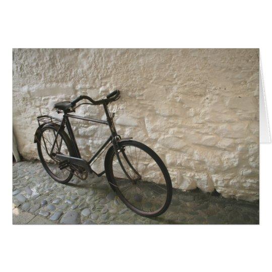 Vintage Fahrrad-Gruß-Karte Karte