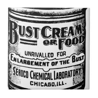 Vintage Fehlschlag-Creme-Anzeige Kleine Quadratische Fliese