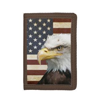 Vintage Flagge US USA mit amerikanischem Adler