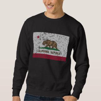 Vintage Flagge von Kalifornien-Staat Sweatshirt