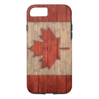 Vintage Flagge von Kanada beunruhigte hölzernen iPhone 7 Hülle