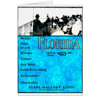 Vintage Florida-Kreuzfahrt Karte
