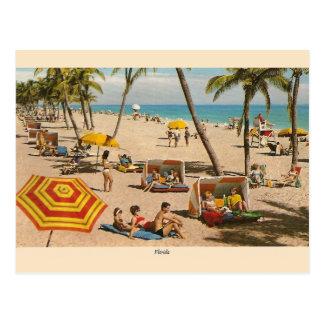 Vintage Florida-Strand-Reise-Postkarte Postkarte