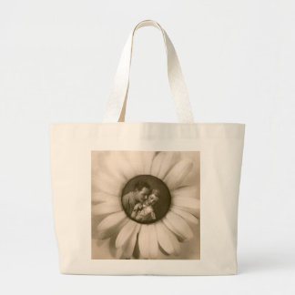 Vintage Flower and picture couple Sac En Toile Jumbo