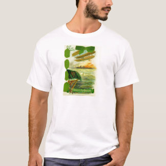Vintage Flugzeug-St Patrick Tageskarte T-Shirt
