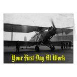 Vintage Flugzeuge 1933, Ihr erster Tag bei der Arb Karten
