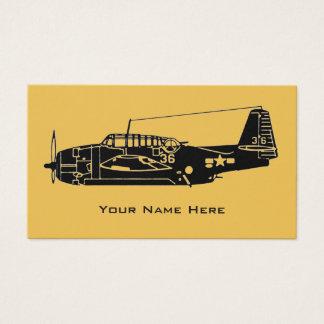 Vintage Flugzeuge Visitenkarte
