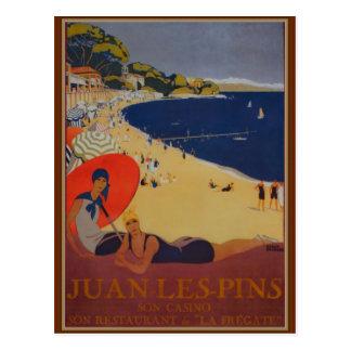 Vintage Franzose-Reise-Anzeige Postkarte