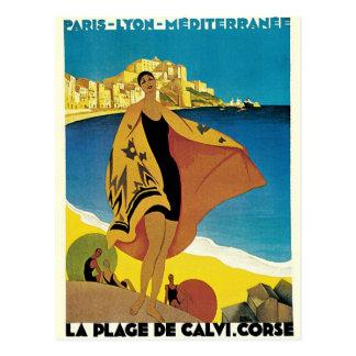 Vintage Franzose-Reise Postkarte