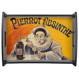 Vintage Franzosen Pierrot Wermut-Anzeige Serviertablett