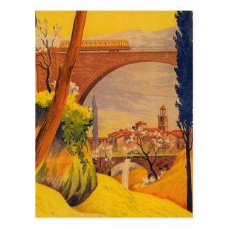 Vintage französische Eisenbahn-Reise Postkarten