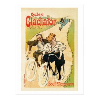 Vintage französische Fahrradwerbung Postkarte