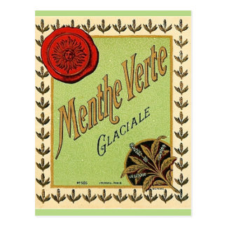 Vintage französische Liköraufkleberpostkarte Postkarte