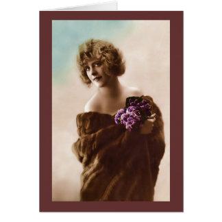 Vintage französische Mode, Fall/winter_1 Karte